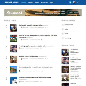 UpVote WordPress Theme