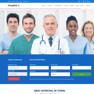 Hospital+ WordPress Theme
