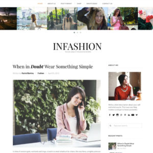 inFashion WordPress Theme