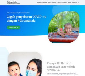 Tampilan website dirumahaja.org